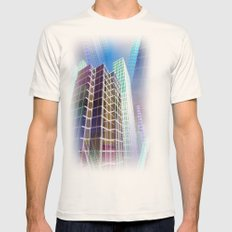 city art -b- Mens Fitted Tee Natural SMALL
