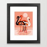 Posse - Flamingo Throwba… Framed Art Print