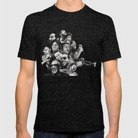 Soul Hero's Mens Fitted Tee Tri-Black SMALL