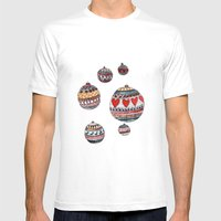 Baubles Mens Fitted Tee White SMALL