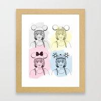Mouse Ears Framed Art Print