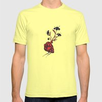 Love Grows Mens Fitted Tee Lemon SMALL