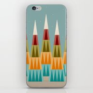 Mountains And Stars iPhone & iPod Skin