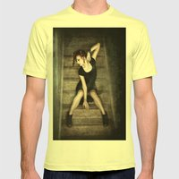 Small Cages Mens Fitted Tee Lemon SMALL