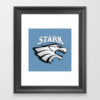 Stark - Game Of Thrones Framed Art Print