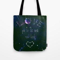 LOVE YOU GALAXY  Tote Bag