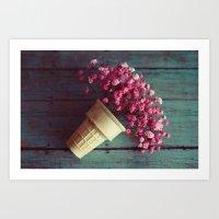 Flower Cone I Art Print
