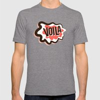 Voila Mens Fitted Tee Tri-Grey SMALL