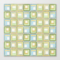 English Country Tiles. Canvas Print