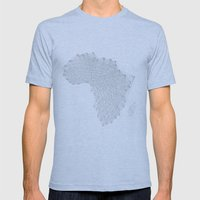 Vector Africa Mens Fitted Tee Athletic Blue SMALL