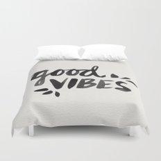Good Vibes – Black Ink Duvet Cover