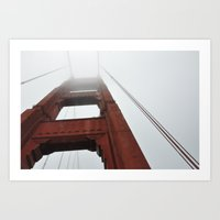Fog On The Golden Gate Art Print