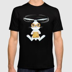 Postal Bunny SMALL Mens Fitted Tee Black