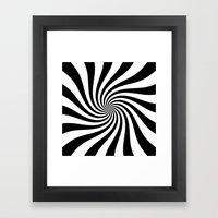 Swirl (Black/White) Framed Art Print
