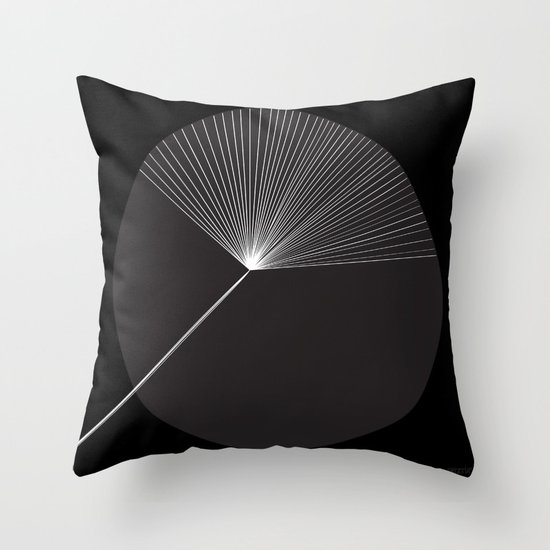 Mod Flower by Friztin Throw Pillow