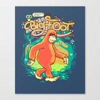 Big Foot Canvas Print