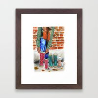 Autumn shoes Framed Art Print