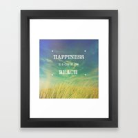 Happiness Is A Day At Th… Framed Art Print