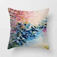 PARADISE DREAMING Colorf… Throw Pillow