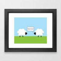 I Love Ewe Framed Art Print