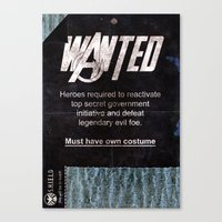 Avengers - Heroes Wanted Canvas Print