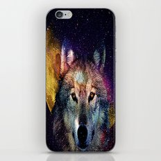 wolf moon space  iPhone & iPod Skin