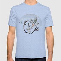 howl at the moon Mens Fitted Tee Tri-Blue SMALL