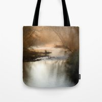 Foggy Alum Creek On A Ch… Tote Bag