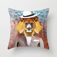 mister Lion Throw Pillow