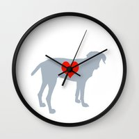 Weim Love Wall Clock