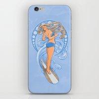 Surf Nouveau iPhone & iPod Skin