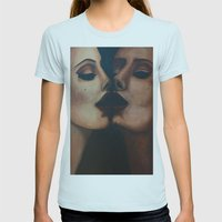 Mirror, Mirror  Womens Fitted Tee Light Blue SMALL