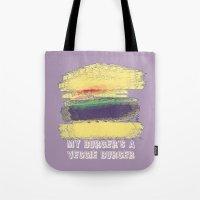 Veggie Burger (purple) Tote Bag