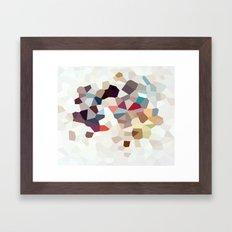 Africa Geometric Abstract Framed Art Print