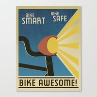 Bike Awesome! Canvas Print