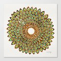 Peacock Mandala – 70s Palette Canvas Print