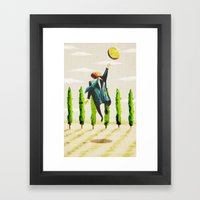 Shiny Framed Art Print