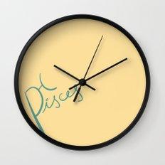 Pisces (zodiac series) Wall Clock