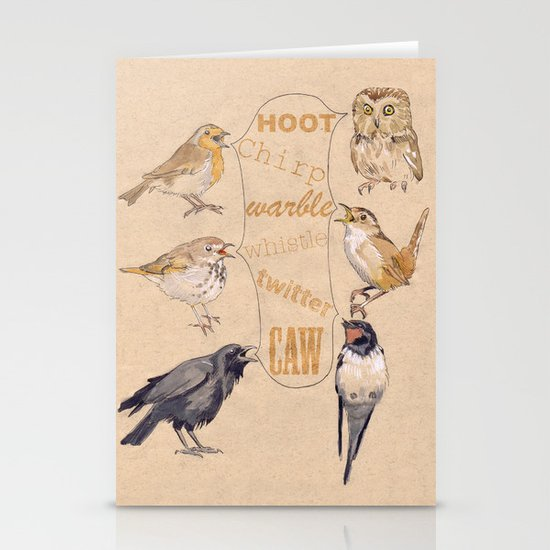 Bird Sounds Stationery Card