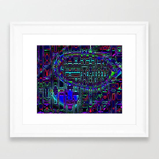 Blimp Framed Art Print