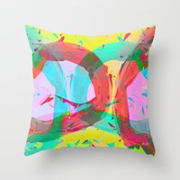 Pastel Color Rings  Throw Pillow