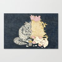 Big Bad Wolf Only Needed… Canvas Print