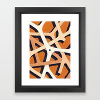 Mono Pattern | The Branches Framed Art Print