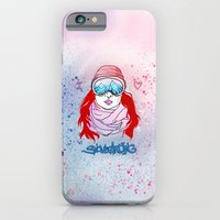 I LOVE SNOWBOARDING  iPhone 6 Slim Case