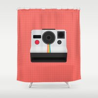 Polaroid One Step Land Camera Shower Curtain