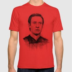 Star Trek: Data Mens Fitted Tee Red SMALL