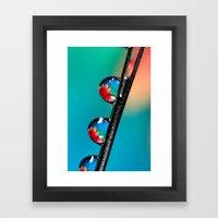 Blooming Needle Framed Art Print