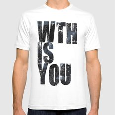 WTHISYOU White Mens Fitted Tee SMALL