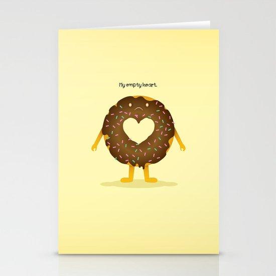 Empty heart Stationery Card