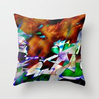 Abstract Inc. Throw Pillow